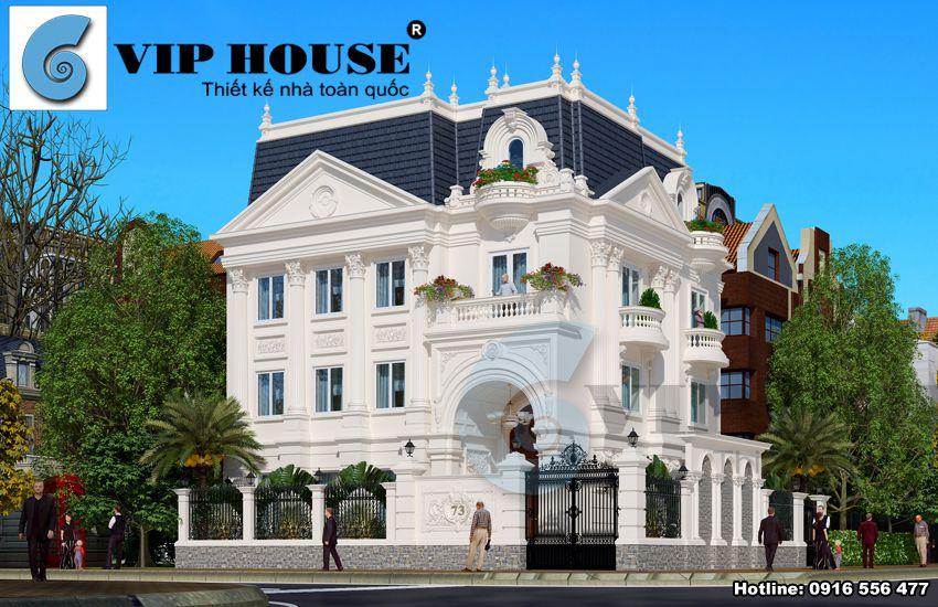 10+ mẫu biệt thự kiểu pháp 3 tầng tân cổ điển
