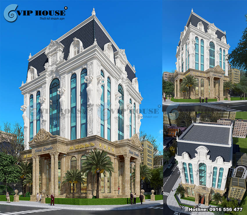 10+ mẫu thiết kế khách sạn tân cổ điển hợp thời đẳng cấp