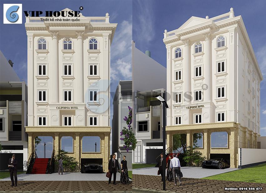 Ablum: Hình ảnh mẫu khách sạn mini 5 tầng đến 9 tầng
