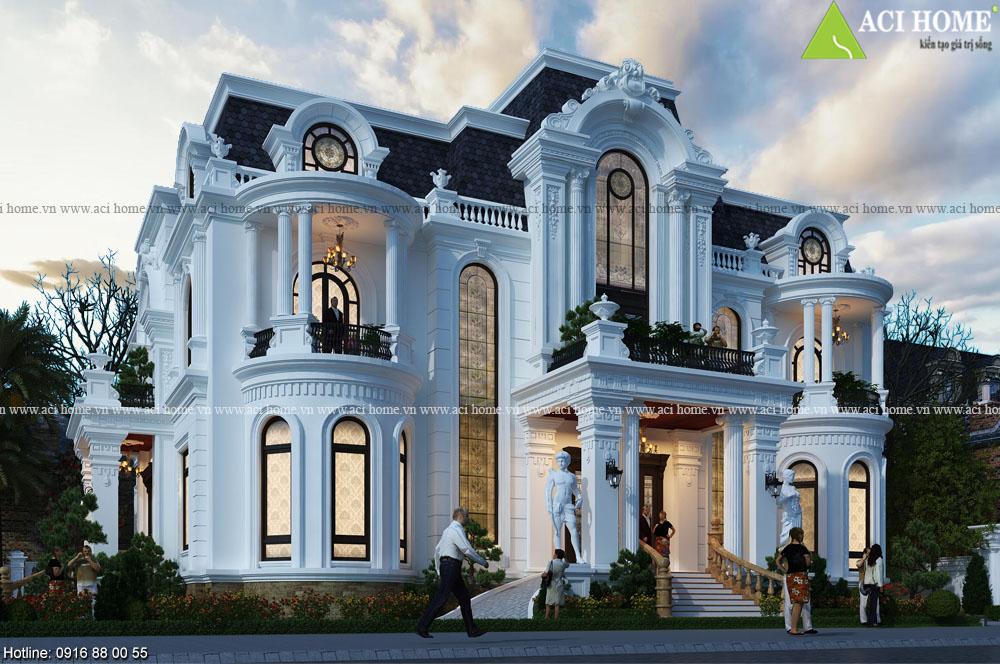Top 5+ thiết kế biệt thự kiểu Pháp 2 tầng đẹp mỹ lệ