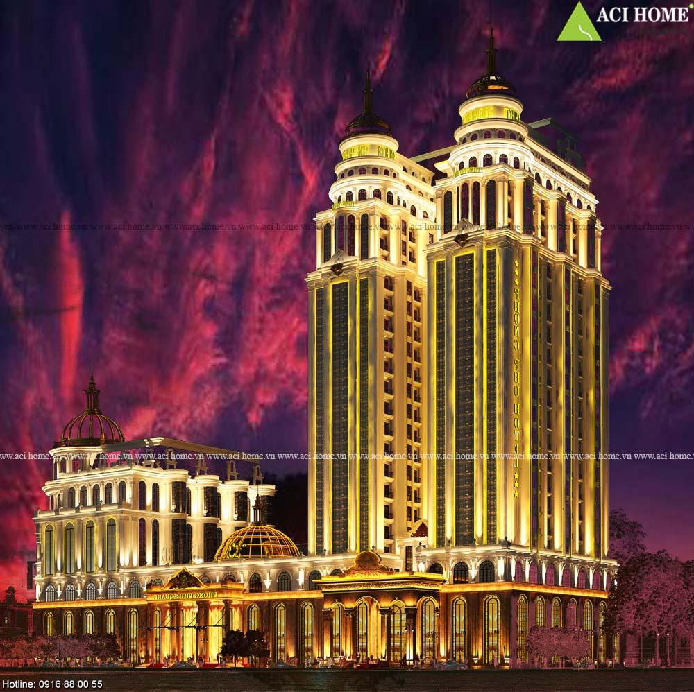 9+ Mẫu khách sạn 4 sao - 5 sao đẳng cấp chuẩn mực từng không gian dịch vụ