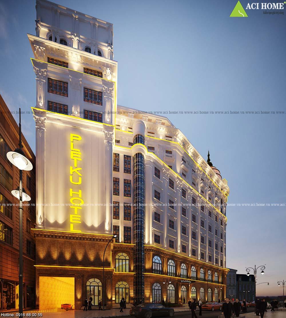 9+ Mẫu thiết kế khách sạn đẹp nổi bật ngắm là mê