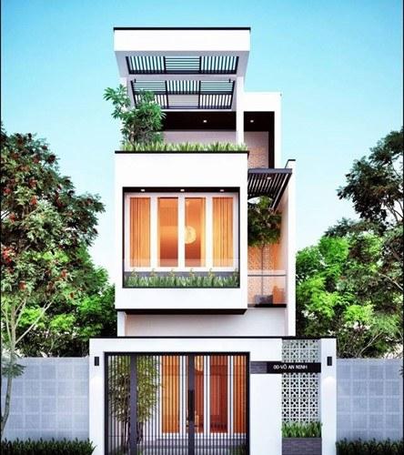 Thiết kế nhà 2 tầng 1 tum giá 400 triệu